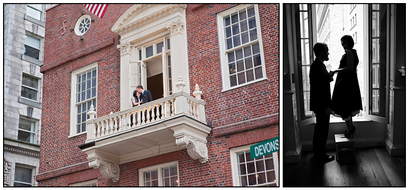 Massachusetts wedding photographer The Old statehouse Boston