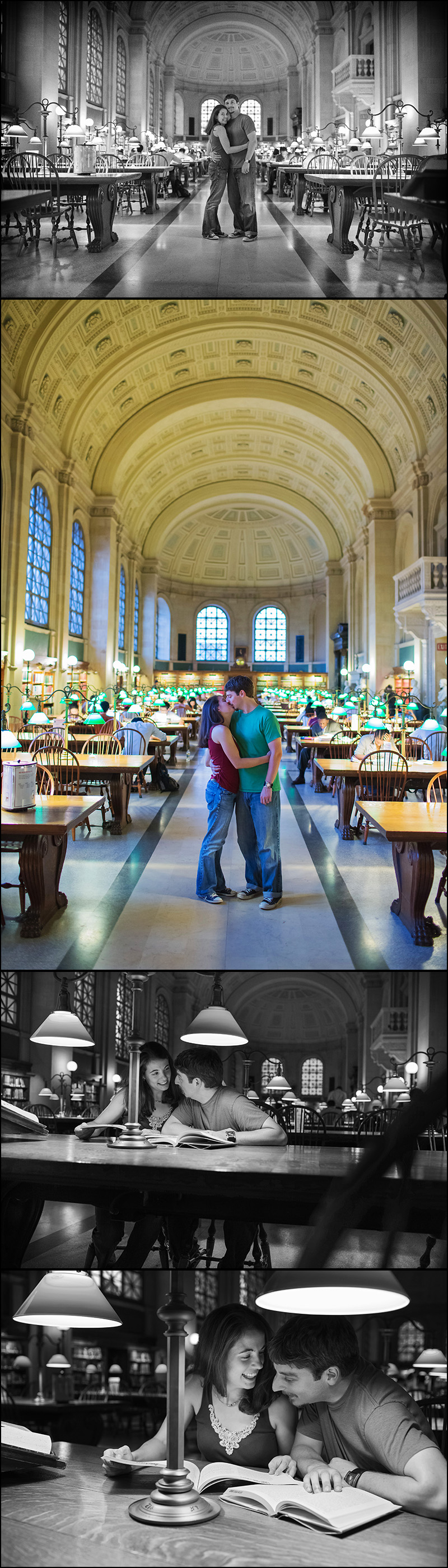 ENGAGEMENT PHOTOGRAPHY AT THE BOSTON PUBLIC LIBRARY