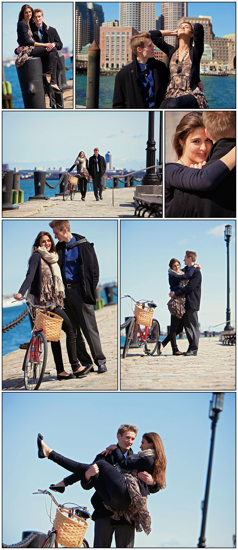 BOSTON WATERFRONT ENGAGEMENT PHOTOGRAPHY SESSION