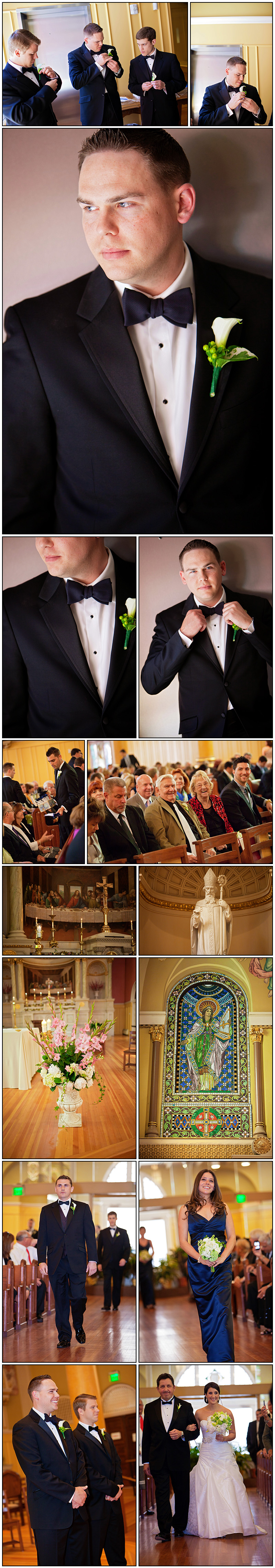 WEDDING PHOTOS AT ST CECILIAS IN BOSTON MA