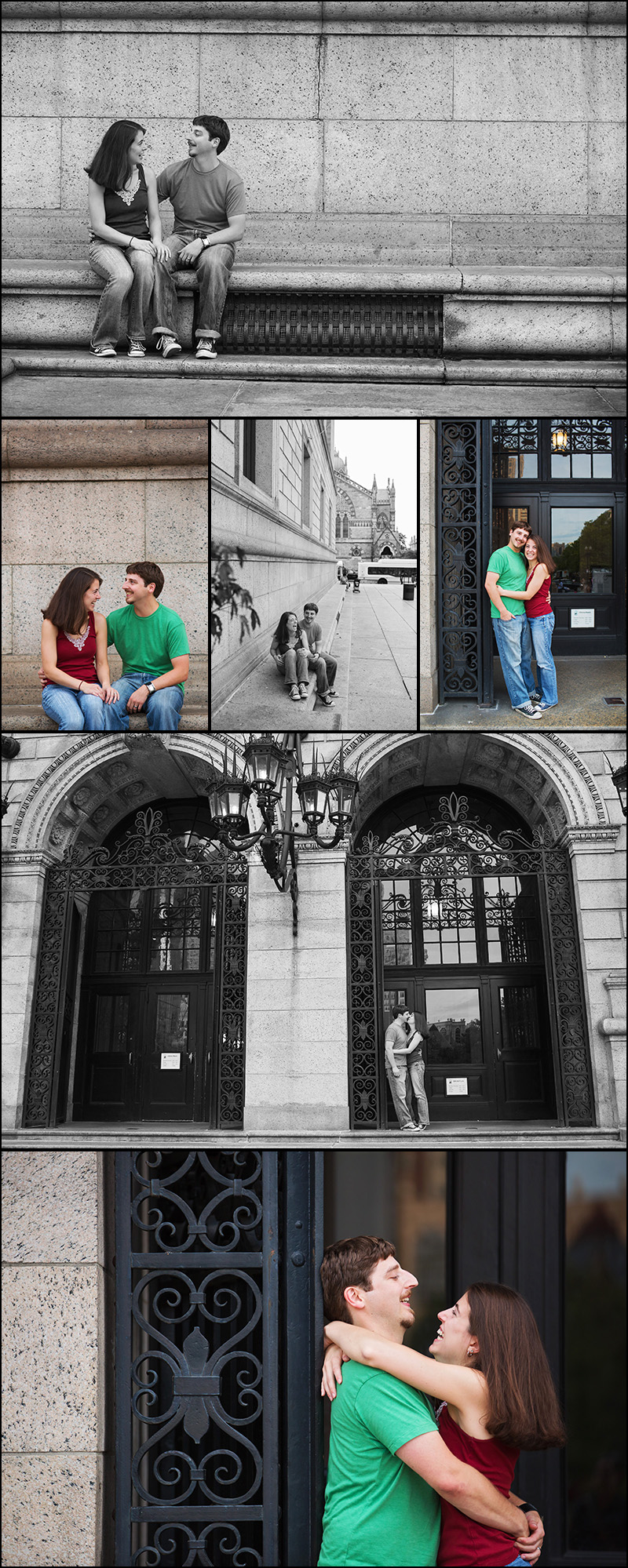ENGAGEMENT PHOTOS AT THE BOSTON PUBLIC LIBRARY BPL