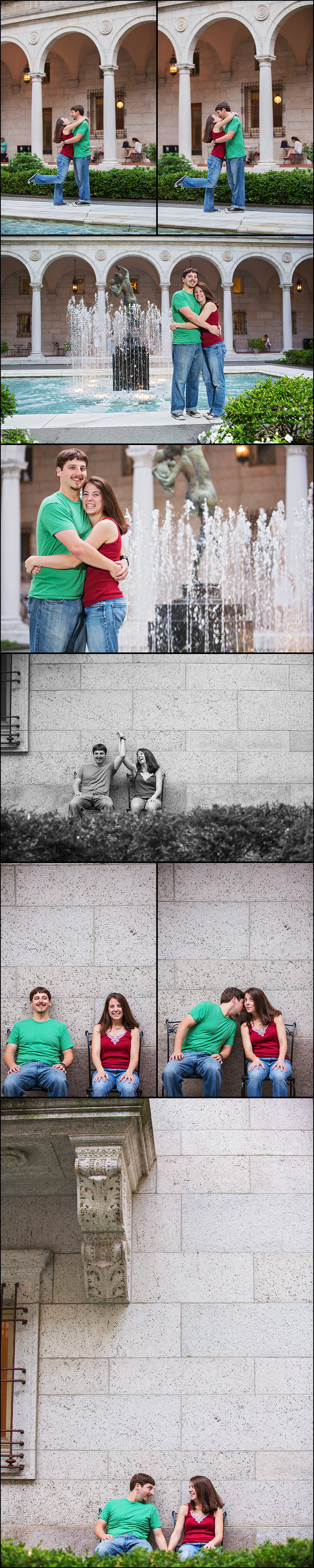 BOSTON ENGAGEMENT SESSION AT THE BPL
