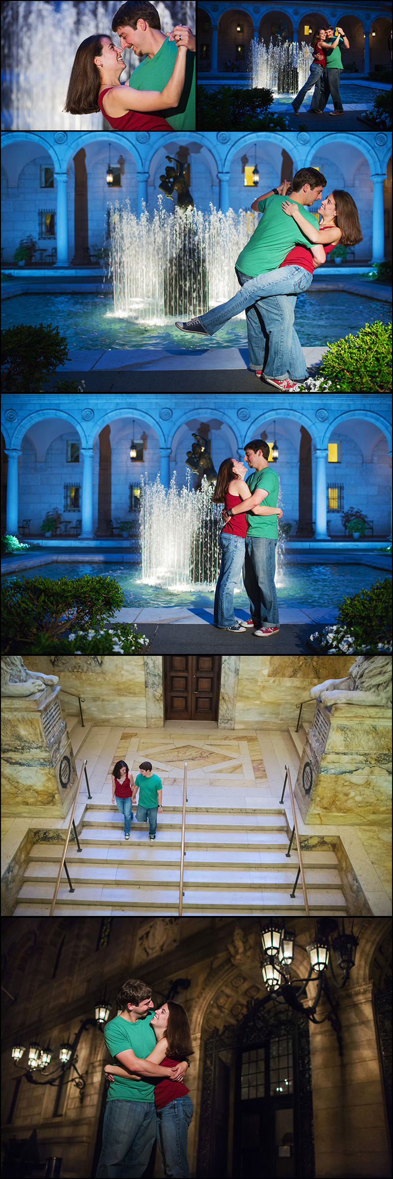 BOSTON PUBLIC LIBRARY ENGAGEMENT SHOOT PHOTOS