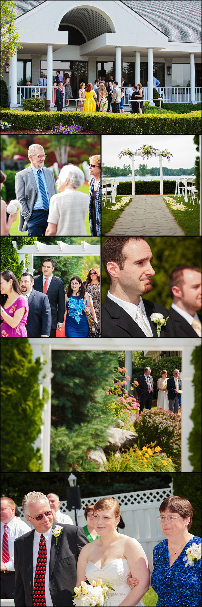 WEDDING CEREMONY PHOTOS AT CASTLETON WINDHAM NH