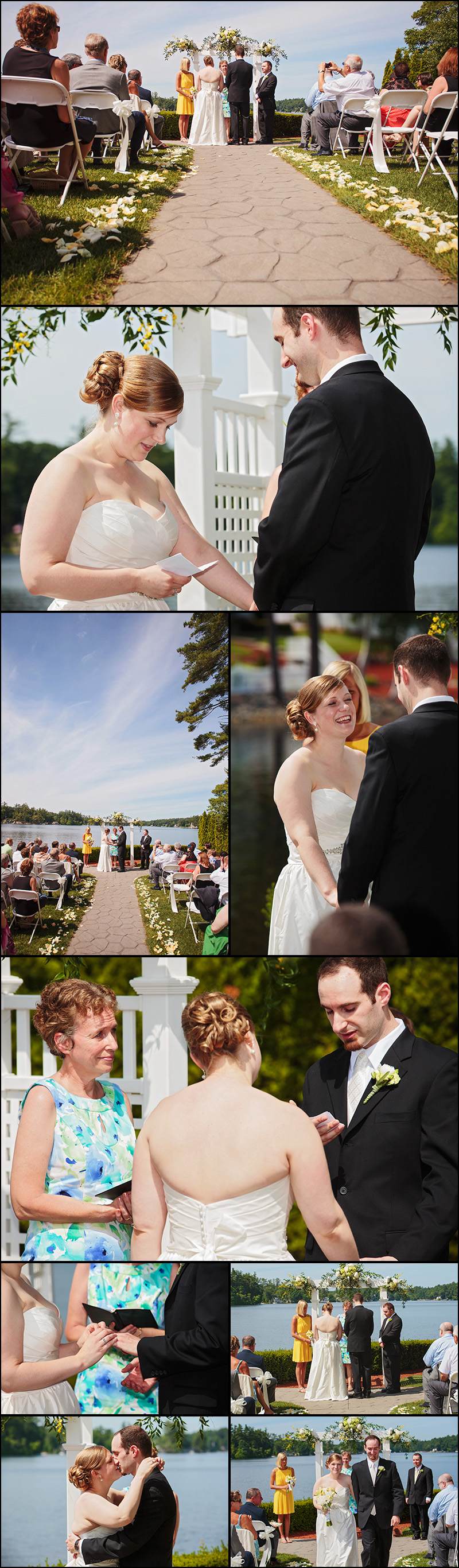 CASTLETON WEDDING PHOTOS NEAR POND NH