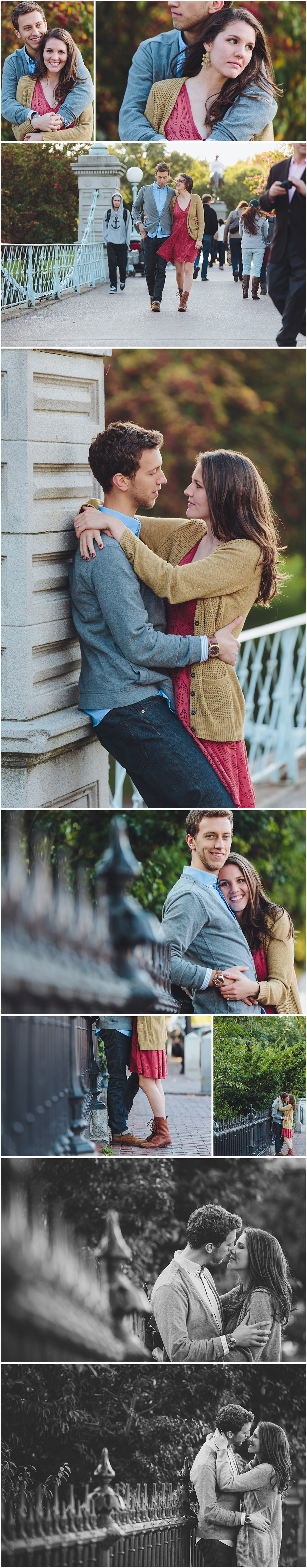 BOSTON ENGAGEMENT SESSION PUBLIC GARDENS